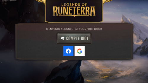 Connect screenshot of Legends of Runeterra Mobile video game interface.