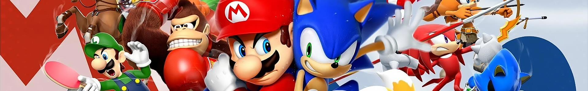 Banner media of Mario and Sonic at the Olympic Games: Tokyo 2020 video game.