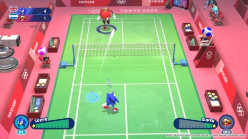 One set screenshot of Mario and Sonic at the Olympic Games: Tokyo 2020 video game interface.