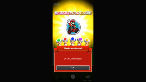 Challenge Completed screenshot of Mario Kart Tour video game interface.