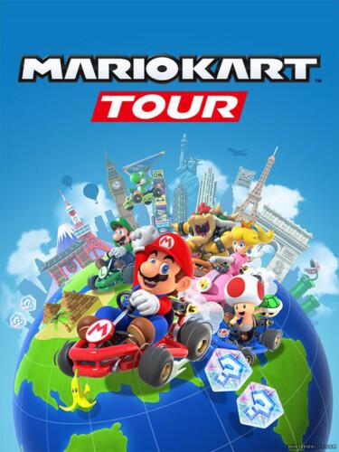 Cover media of Mario Kart Tour video game.