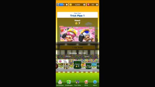 Level Selection - Locked screenshot of Mario Kart Tour video game interface.