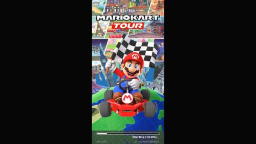 Mario Kart Tour Loading Screen screenshot of Mario Kart Tour video game interface.