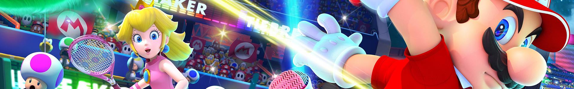 Banner media of Mario Tennis Aces video game.
