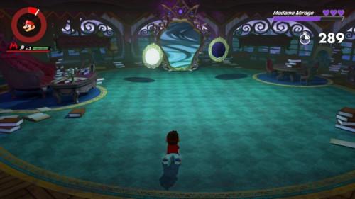 Boss battle screenshot of Mario Tennis Aces video game interface.