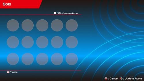 Create a room screenshot of Mario Tennis Aces video game interface.