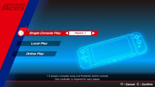 Free play screenshot of Mario Tennis Aces video game interface.