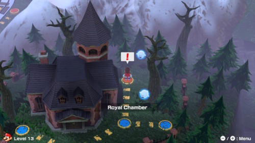 Level selection screenshot of Mario Tennis Aces video game interface.