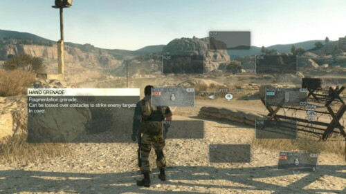 Weapons Wheel screenshot of Metal Gear Solid V: The Phantom Pain video game interface.