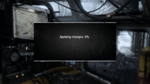 Applying changes screenshot of Metro Exodus video game interface.