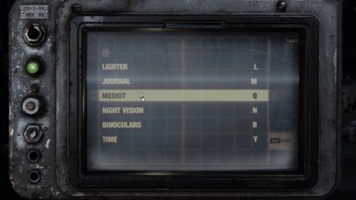 Controls screenshot of Metro Exodus video game interface.