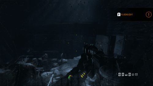 Flashlight screenshot of Metro Exodus video game interface.