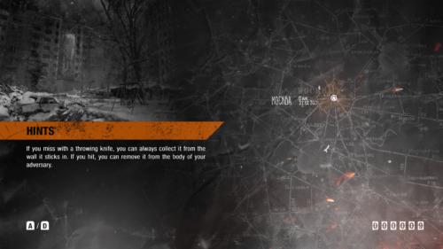 Loading screenshot of Metro Exodus video game interface.