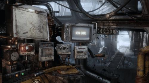 Main menu screenshot of Metro Exodus video game interface.