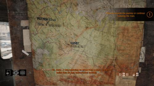 Map screenshot of Metro Exodus video game interface.