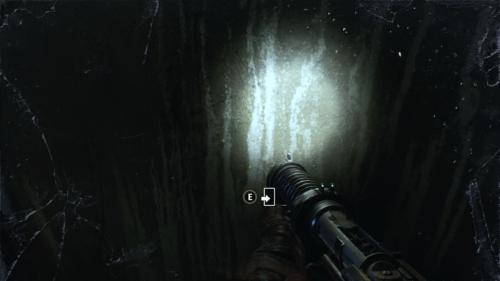 Open door screenshot of Metro Exodus video game interface.