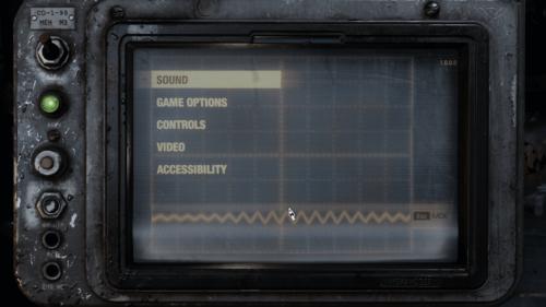 Options screenshot of Metro Exodus video game interface.