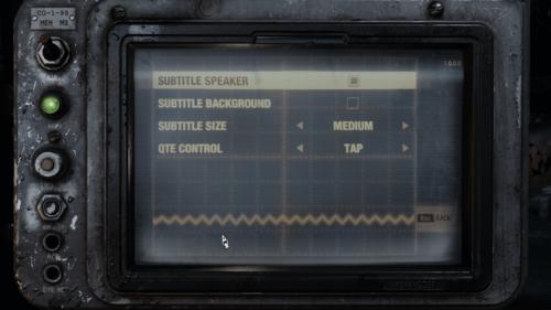 Subtitle screenshot of Metro Exodus video game interface.