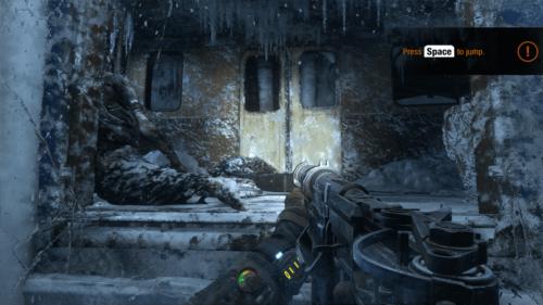 Tutorial screenshot of Metro Exodus video game interface.