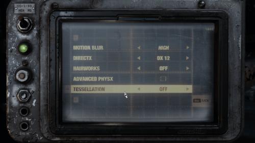 Video screenshot of Metro Exodus video game interface.