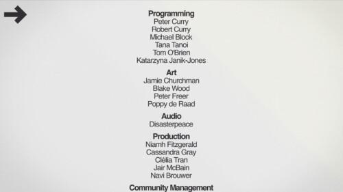 Credits screenshot of Mini Metro video game interface.
