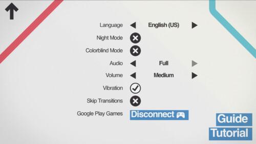 Settings screenshot of Mini Metro video game interface.