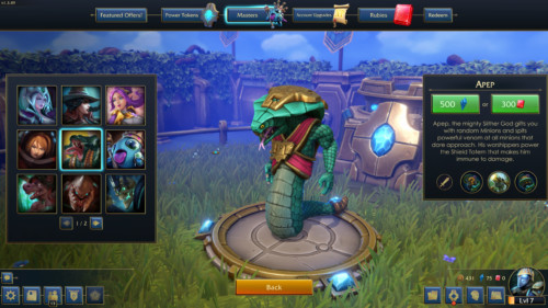 Buy masters screenshot of Minion Masters video game interface.