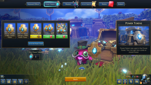 Buy tokens screenshot of Minion Masters video game interface.