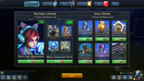 Featured offers screenshot of Minion Masters video game interface.