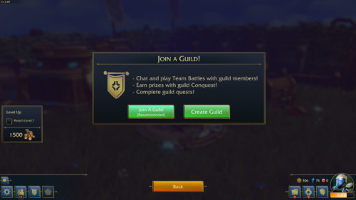 Join a guild screenshot of Minion Masters video game interface.