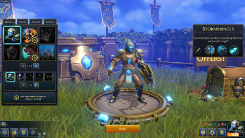 Masters screenshot of Minion Masters video game interface.