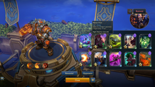 Opponent minion screenshot of Minion Masters video game interface.