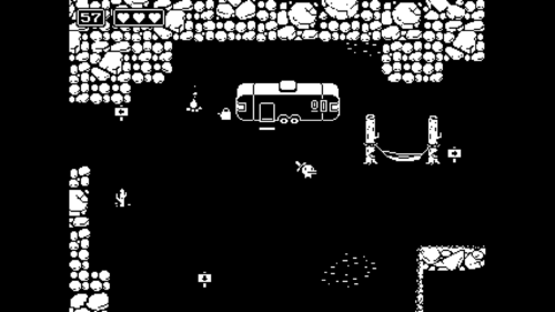 Level design screenshot of Minit video game interface.