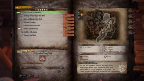 Capture quest screenshot of Monster Hunter: World video game interface.