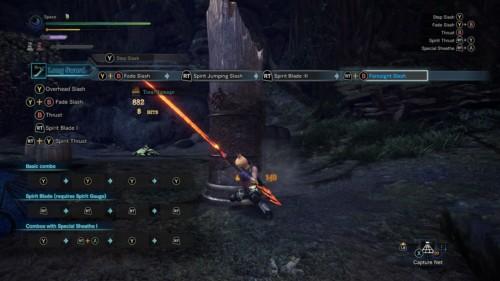 Combo screenshot of Monster Hunter: World video game interface.
