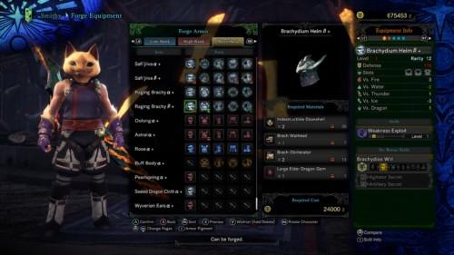 Forge armor screenshot of Monster Hunter: World video game interface.