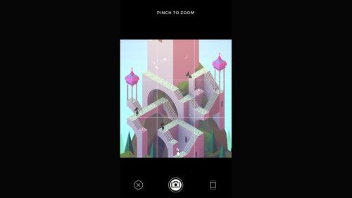 Camera Menu screenshot of Monument Valley video game interface.