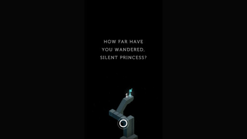Dialogue screenshot of Monument Valley video game interface.