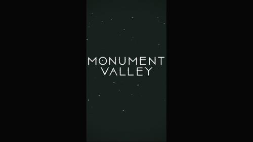 Game Logo Start Screen screenshot of Monument Valley video game interface.