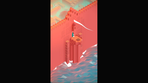 In Game screenshot of Monument Valley video game interface.