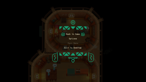 Back to game screenshot of Moonlighter video game interface.