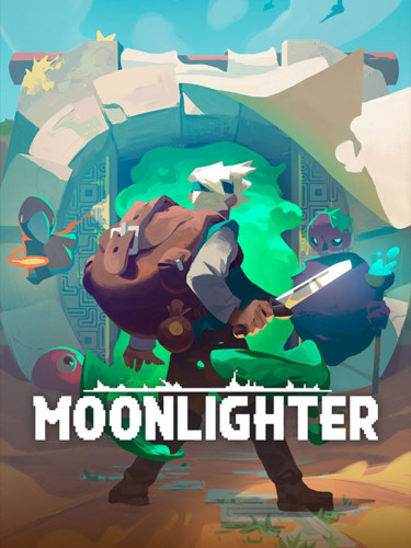 Cover media of Moonlighter video game.