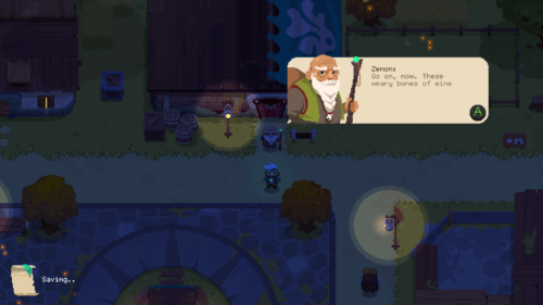 Dialogue screenshot of Moonlighter video game interface.