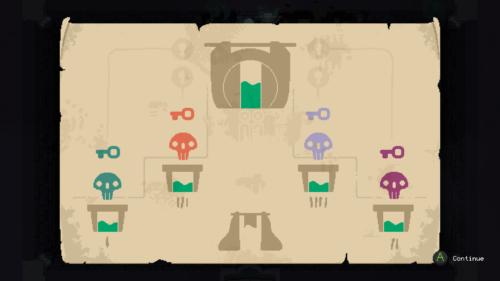 Dungeon keys screenshot of Moonlighter video game interface.