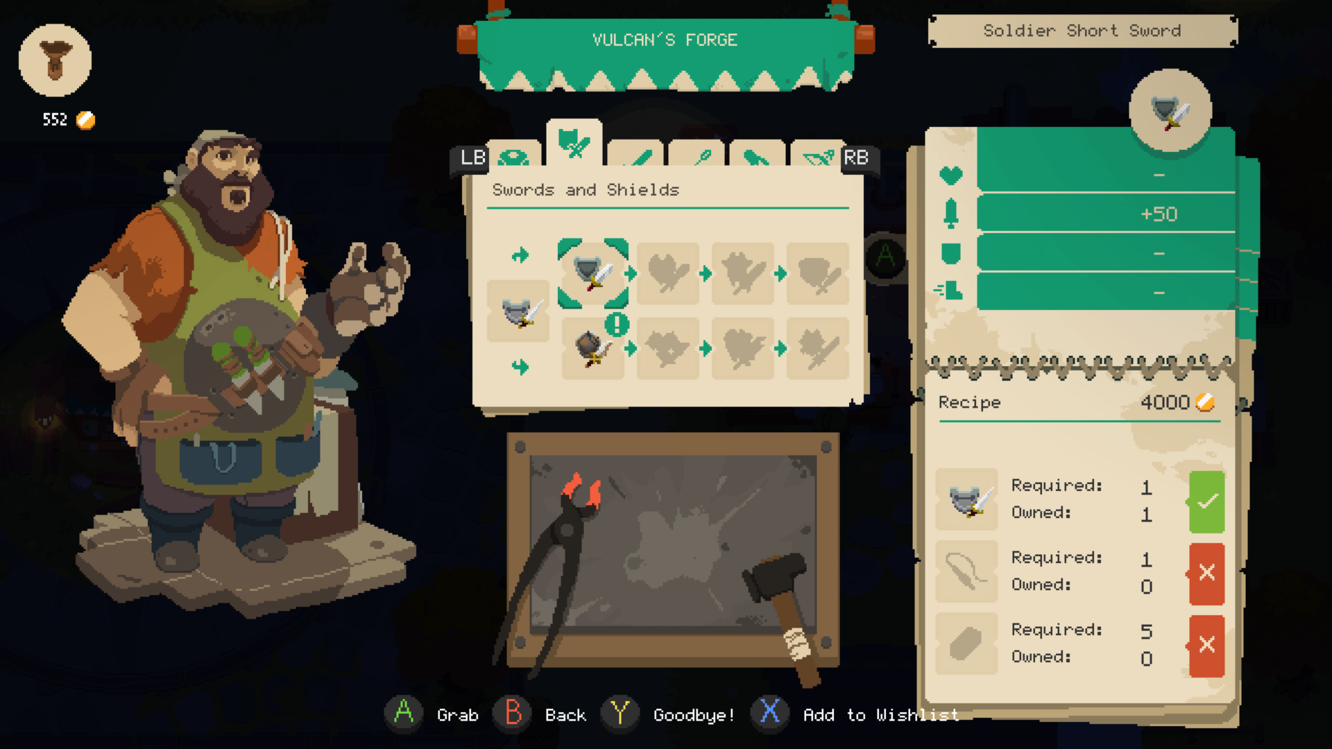 Forge screenshot of Moonlighter video game interface.