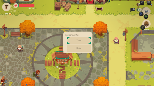 Investments screenshot of Moonlighter video game interface.