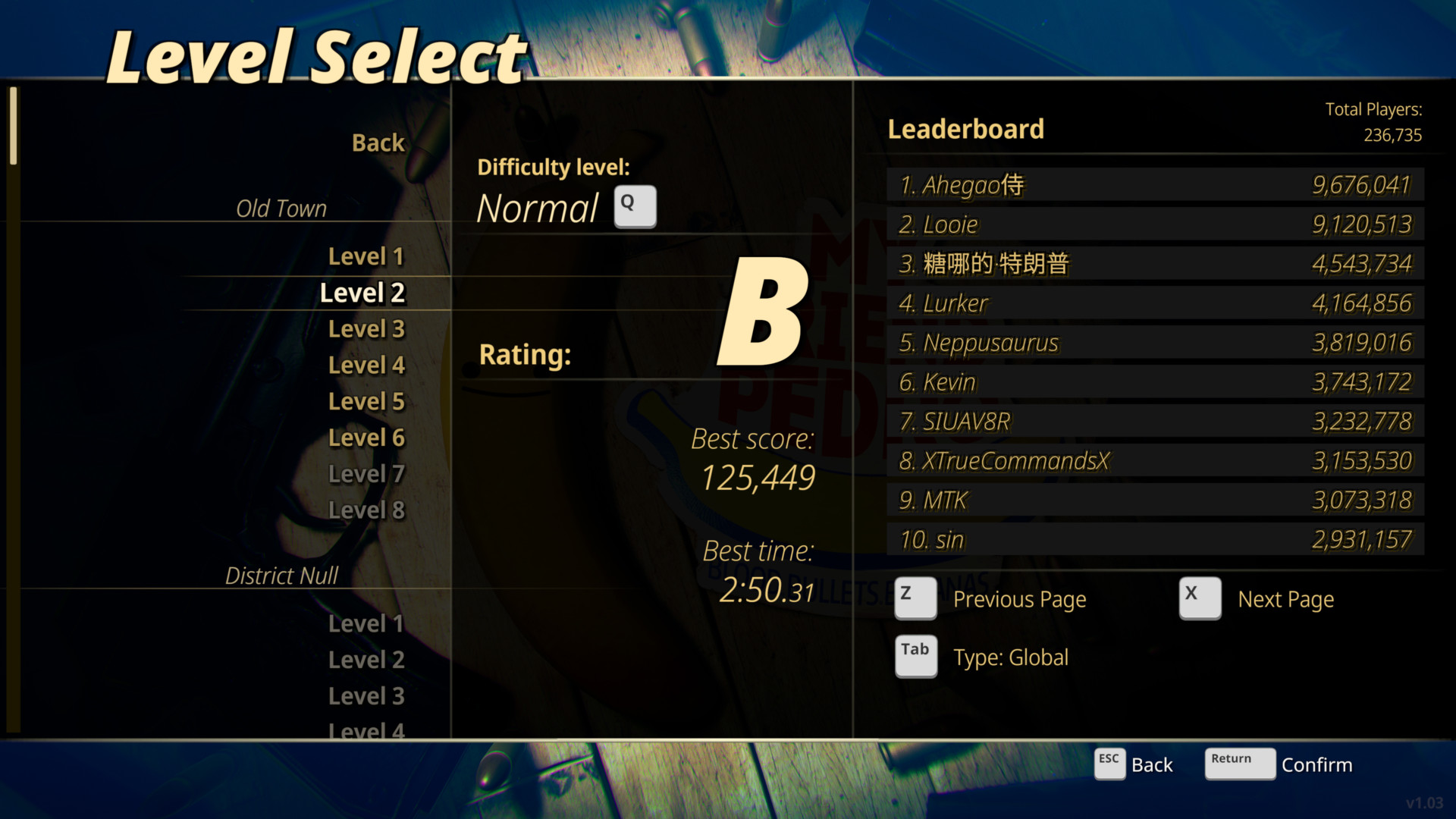 my-friend-pedro-level-select