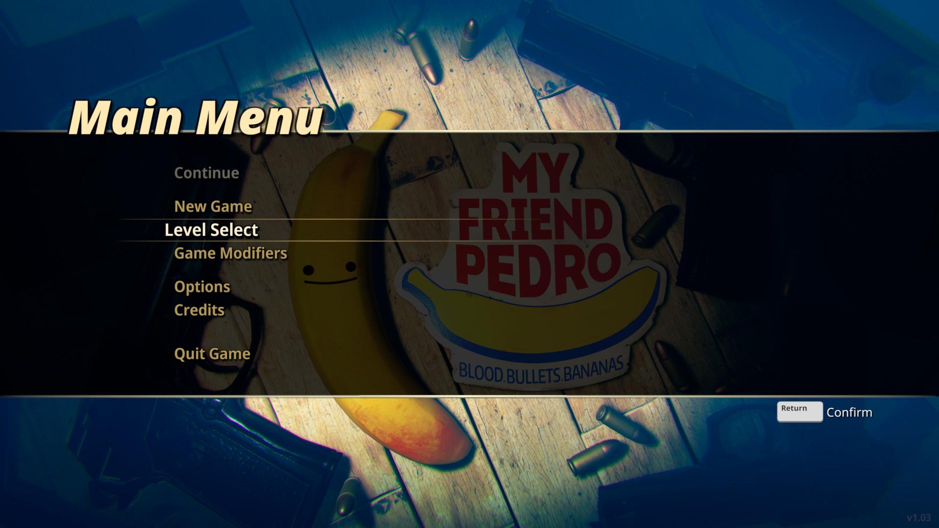 my-friend-pedro-main-menu