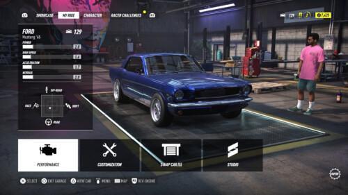 Garage screenshot of Need for Speed Heat video game interface.