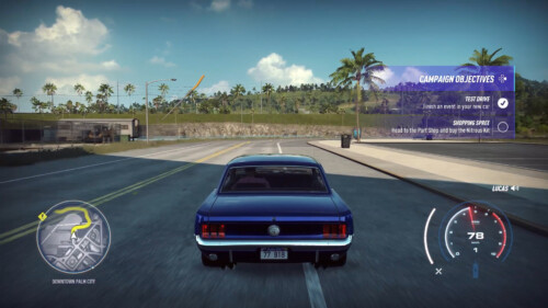 Objectives screenshot of Need for Speed Heat video game interface.